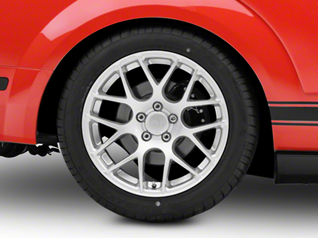 AMR Silver Wheel - 18x10 - Rear Only (05-14 All, Excluding 13-14 GT500)