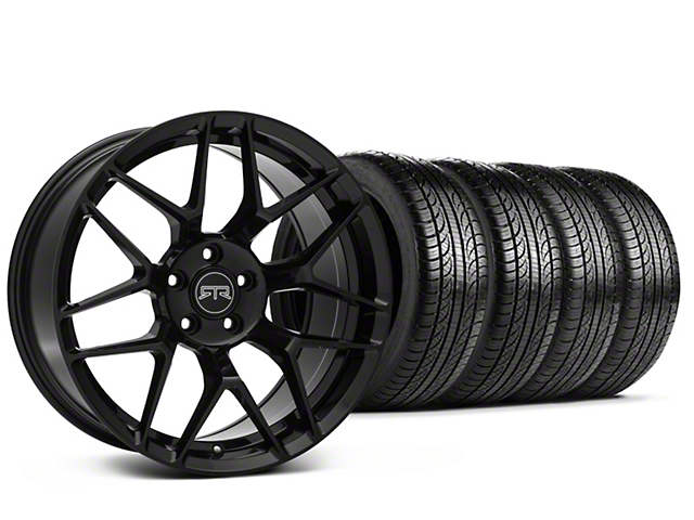 RTR Tech 7 Black Wheel & Pirelli Tire Kit - 19x9.5 (15-18 All)