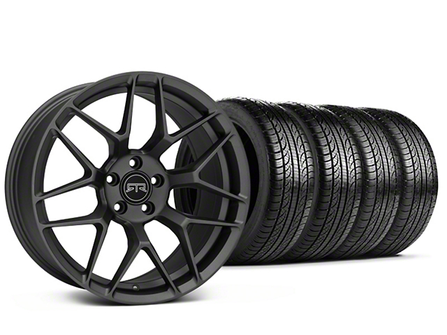 RTR Tech 7 Charcoal Wheel & Pirelli Tire Kit - 19x9.5 (15-18 GT, EcoBoost, V6)
