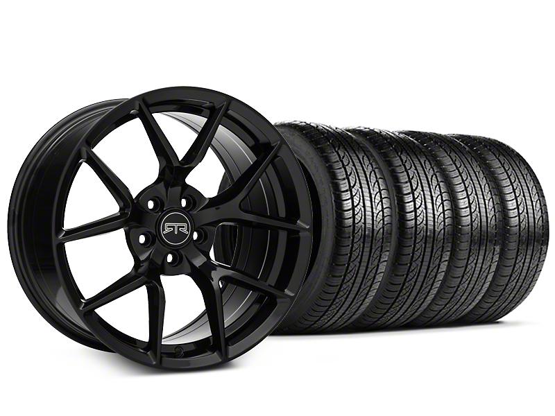 RTR Tech 5 Black Wheel & Pirelli Tire Kit - 19x9.5 (15-17 All)