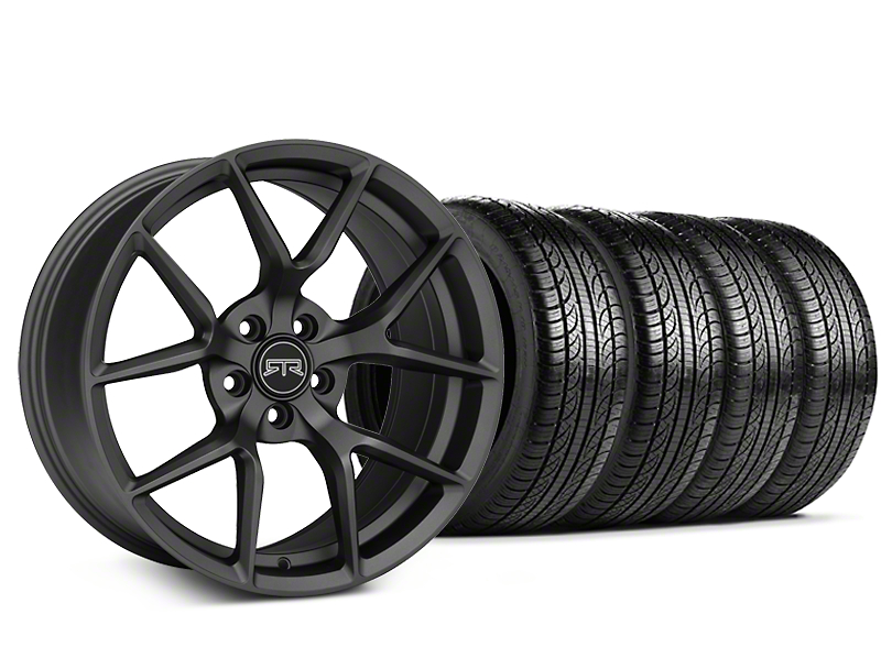 RTR Tech 5 Charcoal Wheel and Pirelli Tire Kit; 19x9.5 (15-20 GT, EcoBoost, V6)