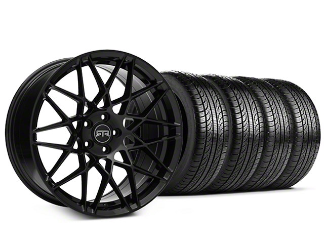 RTR Tech Mesh Black Wheel & Pirelli Tire Kit - 19x9.5 (15-19 GT, EcoBoost, V6)