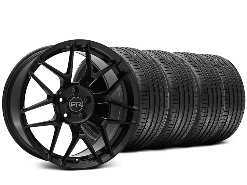 RTR Tech 7 Black Wheel & Sumitomo Tire Kit - 19x9.5 (15-18 GT, EcoBoost, V6)