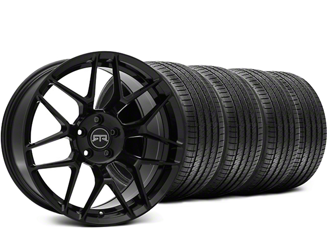 RTR Tech 7 Black Wheel and Sumitomo Maximum Performance HTR Z5 Tire Kit; 19x9.5 (15-20 GT, EcoBoost, V6)