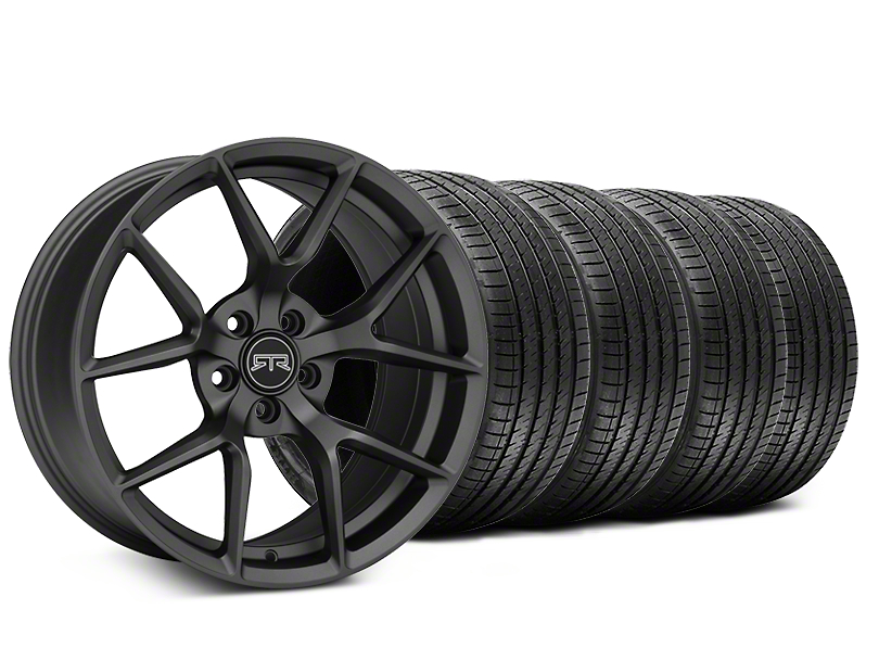 RTR Tech 5 Charcoal Wheel & Sumitomo Tire Kit - 19x9.5 (15-19 GT, EcoBoost, V6)