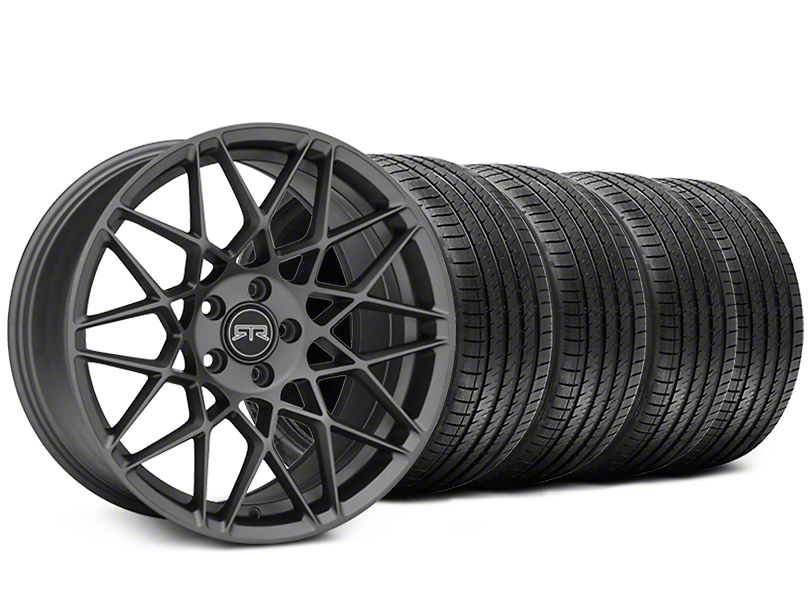 RTR Tech Mesh Charcoal Wheel & Sumitomo Tire Kit - 19x9.5 (15-18 GT, EcoBoost, V6)