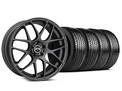 RTR Charcoal Wheel & Pirelli Tire Kit - 19x8.5 (15-18 GT, EcoBoost, V6)