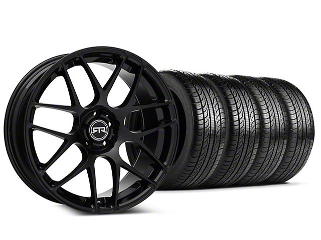 RTR Black Wheel & Pirelli Tire Kit - 19x8.5 (15-18 GT, EcoBoost, V6)
