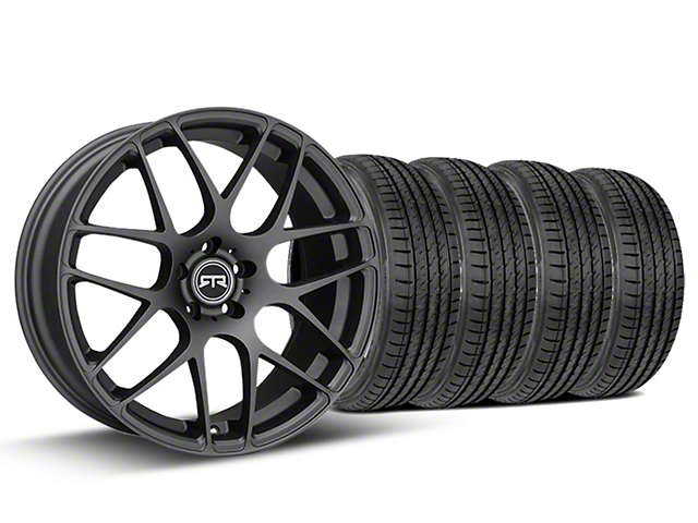RTR Charcoal Wheel & Sumitomo Tire Kit - 19x8.5 (15-18 GT, EcoBoost, V6)