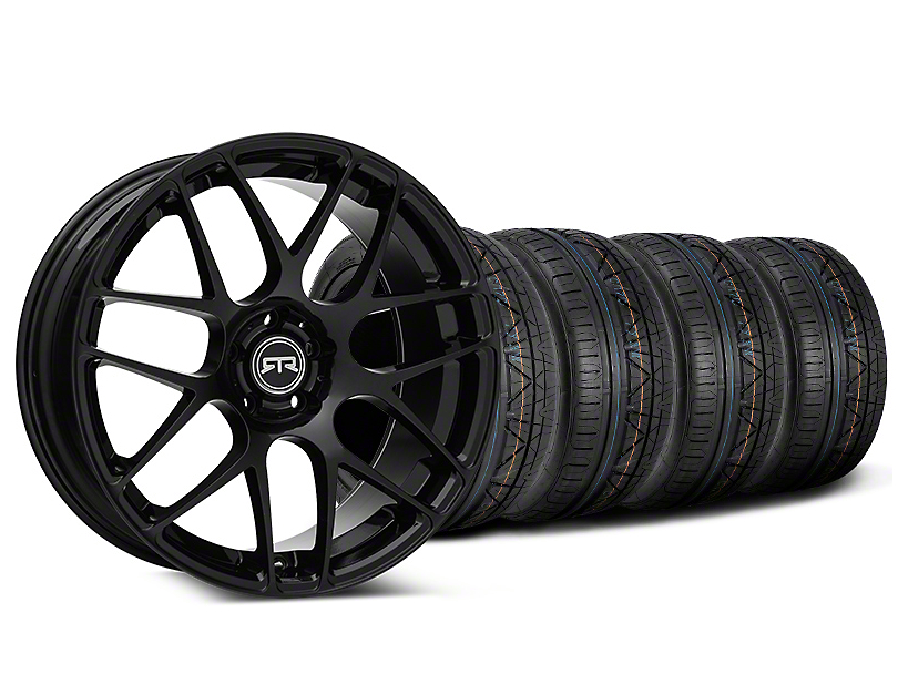 RTR Black Wheel & NITTO INVO Tire Kit - 19x8.5 (15-19 GT, EcoBoost, V6)
