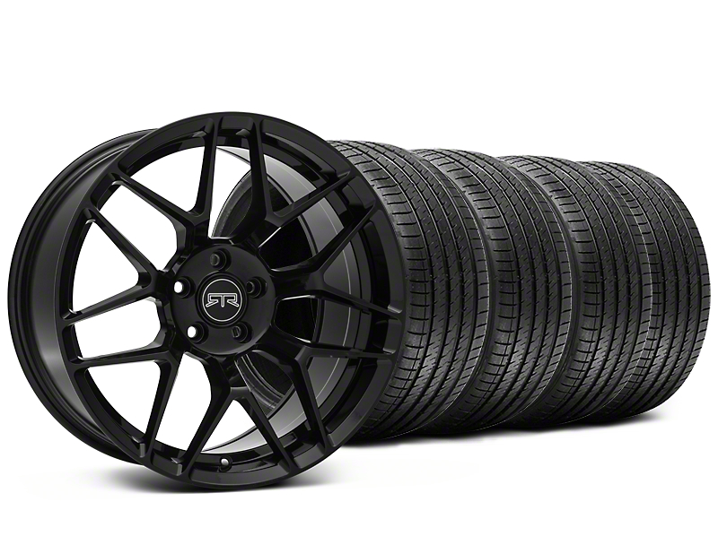 RTR Tech 7 Black Wheel & Sumitomo Tire Kit - 20x9.5 (15-18 GT, EcoBoost, V6)