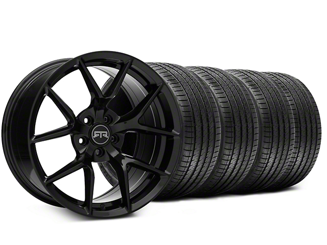 RTR Tech 5 Black Wheel & Sumitomo Tire Kit - 20x9.5 (15-18 GT, EcoBoost, V6)