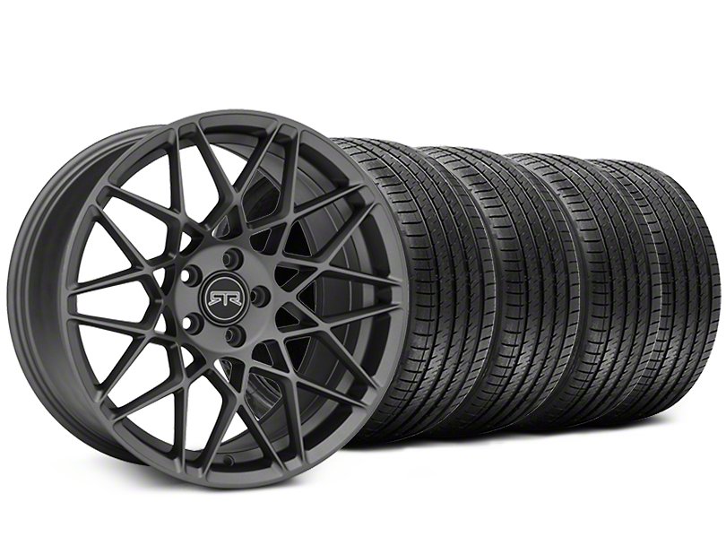 RTR Tech Mesh Charcoal Wheel & Sumitomo Tire Kit - 20x9.5 (15-19 GT, EcoBoost, V6)