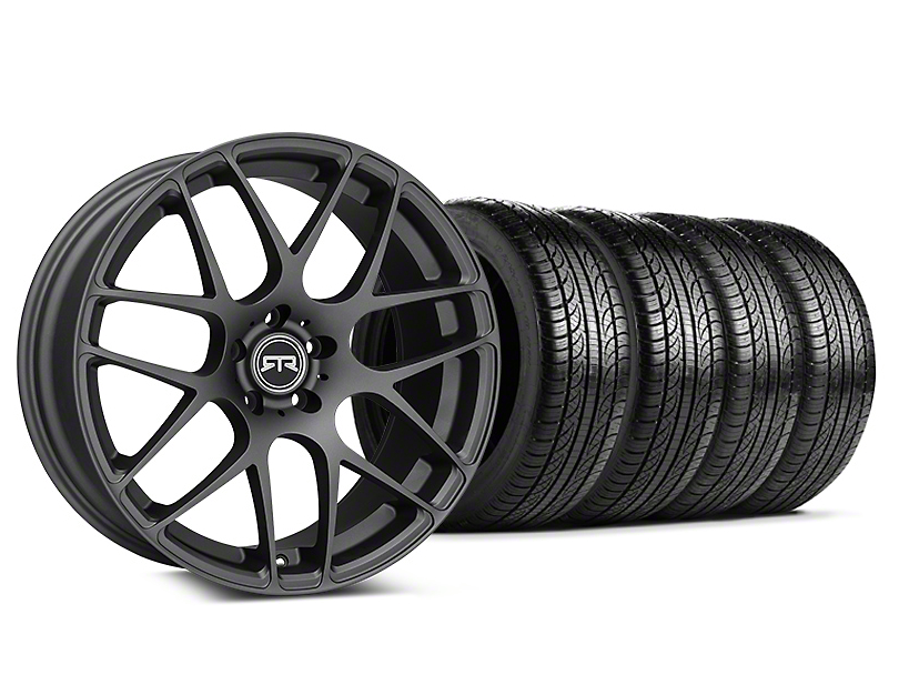 Staggered RTR Charcoal Wheel & Pirelli Tire Kit - 19x8.5/10 (05-14 All)