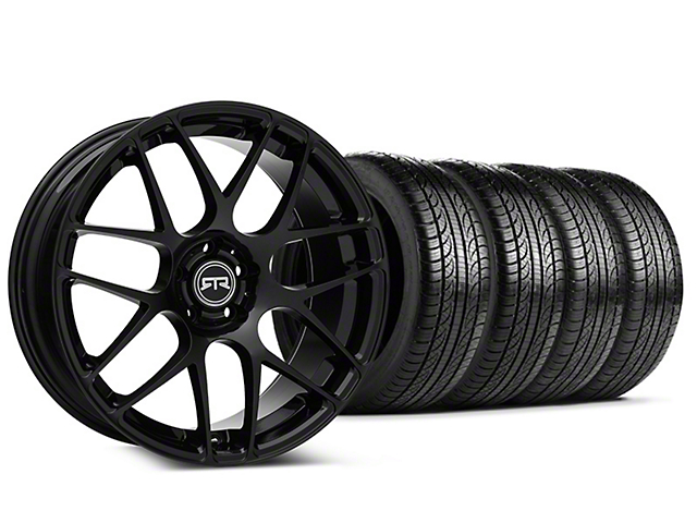 Staggered RTR Black Wheel & Pirelli Tire Kit - 19x8.5/10 (05-14 All)
