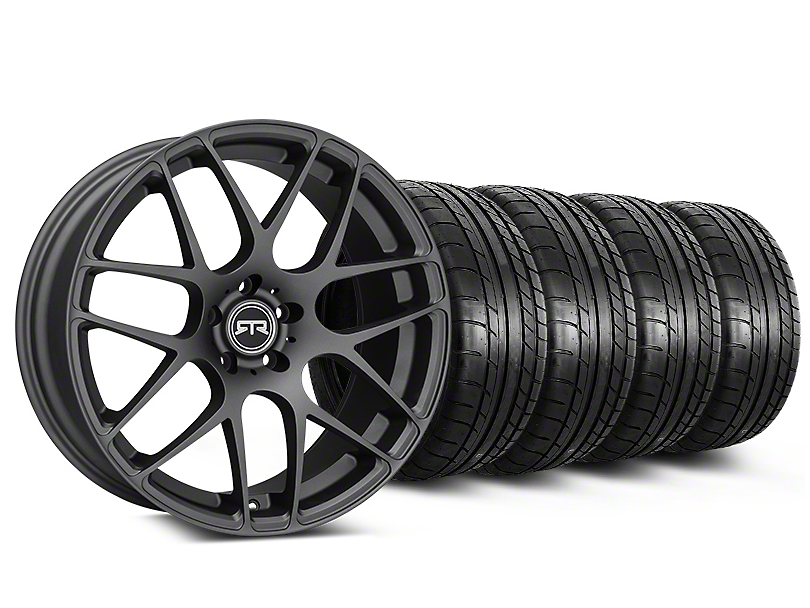Staggered RTR Charcoal Wheel & Mickey Thompson Tire Kit - 19x8.5/10 (05-14 All)