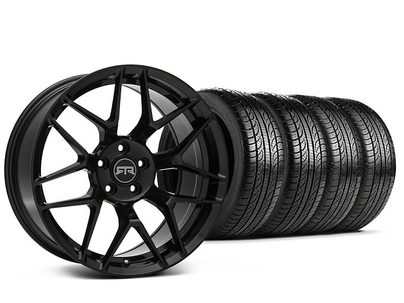Staggered RTR Tech 7 Black Wheel & Pirelli Tire Kit - 19x9.5/10.5 (05-14 All)