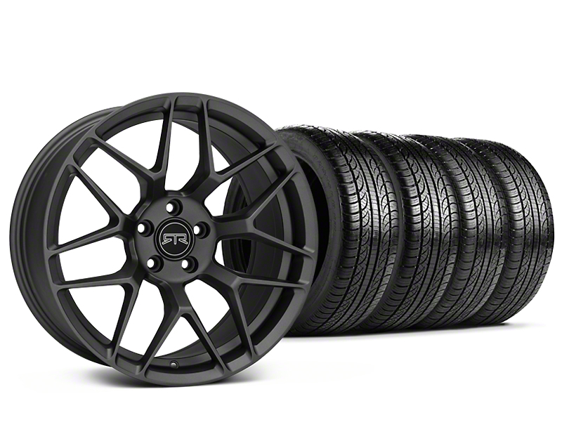 Staggered RTR Tech 7 Charcoal Wheel & Pirelli Tire Kit - 19x9.5/10.5 (05-14 All)