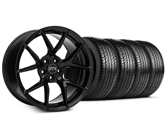 Staggered RTR Tech 5 Black Wheel & Pirelli Tire Kit - 19x9.5/10.5 (05-14 All)