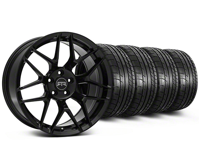 Staggered RTR Tech 7 Black Wheel and Mickey Thompson Tire Kit; 19x9.5/10.5 (05-14 All)