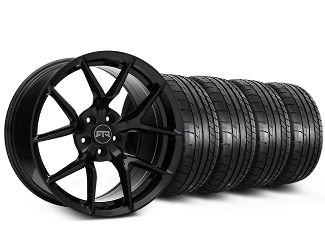 Staggered RTR Tech 5 Black Wheel & Mickey Thompson Tire Kit - 19x9.5/10.5 (05-14 All)