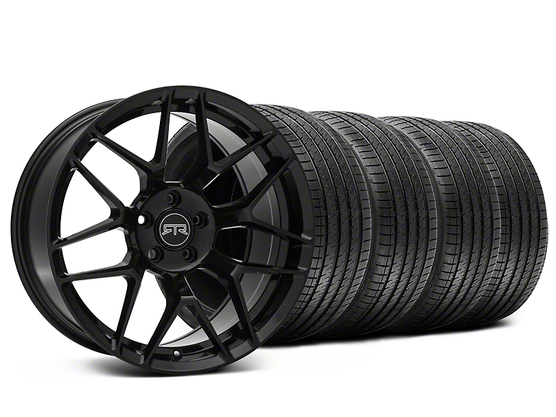 Staggered RTR Tech 7 Black Wheel & Sumitomo Tire Kit - 20x9.5/10.5 (05-14 All)