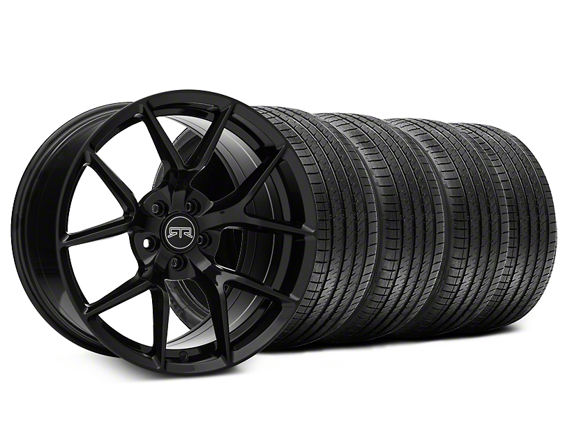 Staggered RTR Tech 5 Black Wheel & Sumitomo Tire Kit - 20x9.5/10.5 (05-14 All)