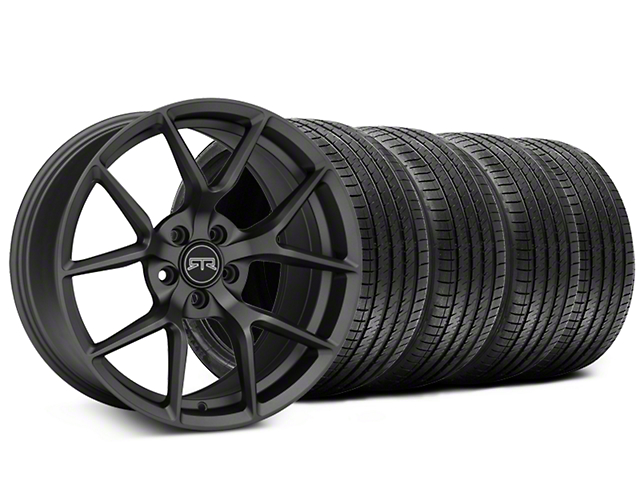 Staggered RTR Tech 5 Charcoal Wheel and Sumitomo Maximum Performance HTR Z5 Tire Kit; 20x9.5/10.5 (05-14 All)