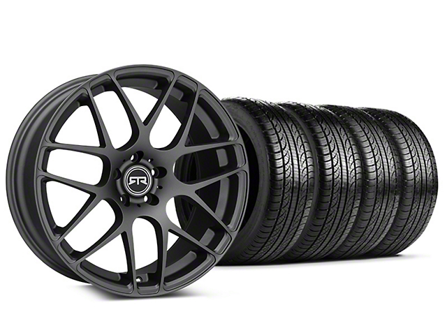 Staggered RTR Charcoal Wheel & Pirelli Tire Kit - 19x8.5/10 (15-18 All)