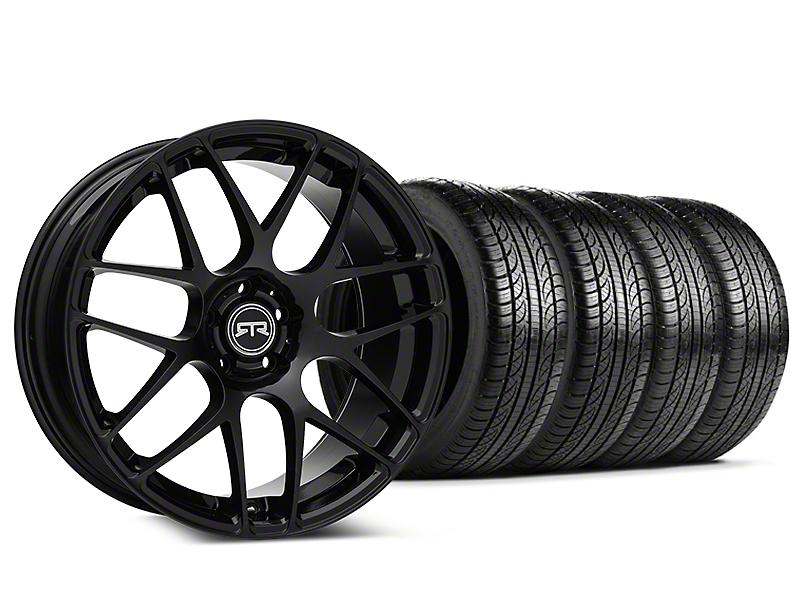 Staggered RTR Black Wheel & Pirelli Tire Kit - 19x8.5/10 (15-18 GT, EcoBoost, V6)
