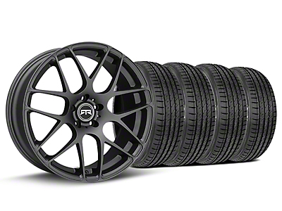 Staggered RTR Charcoal Wheel & Sumitomo Tire Kit - 19x8.5/10 (15-18 GT, EcoBoost, V6)