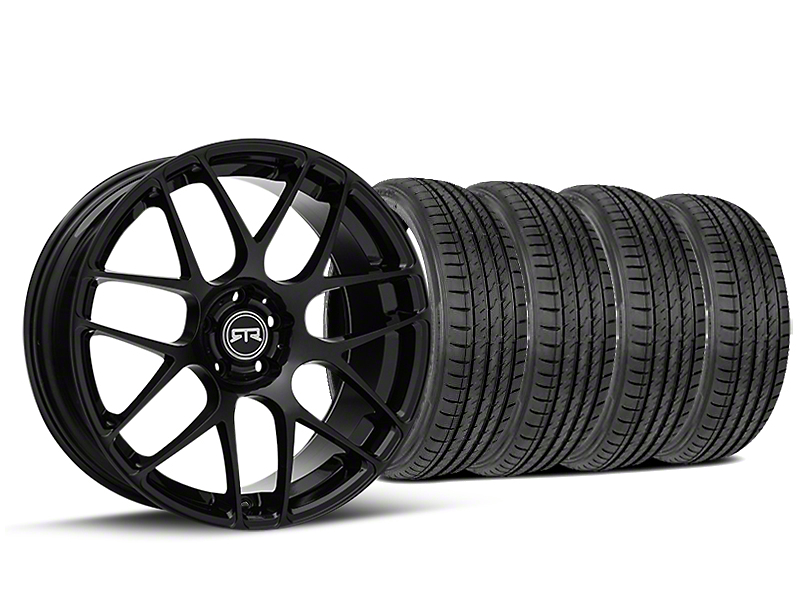 Staggered RTR Black Wheel & Sumitomo Tire Kit - 19x8.5/10 (15-19 GT, EcoBoost, V6)
