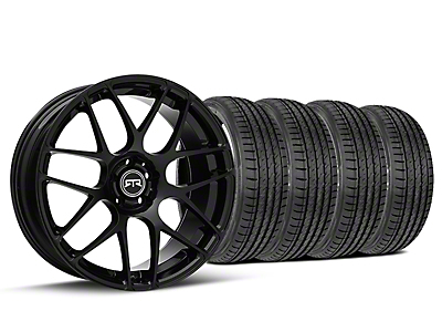 Staggered RTR Black Wheel & Sumitomo Tire Kit - 19x8.5/10 (15-18 GT, EcoBoost, V6)