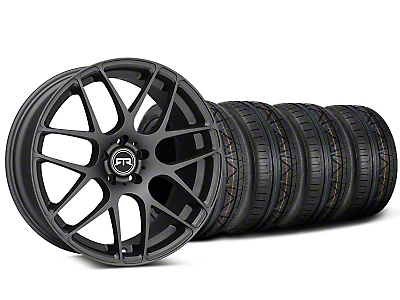 Staggered RTR Charcoal Wheel & NITTO INVO Tire Kit - 19x8.5/10 (15-18 GT, EcoBoost, V6)