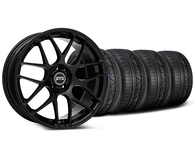 Staggered RTR Black Wheel & NITTO INVO Tire Kit - 19x8.5/10 (15-17 All)