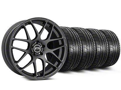 Staggered RTR Charcoal Wheel & Mickey Thompson Tire Kit - 19x8.5/10 (15-18 GT, EcoBoost, V6)