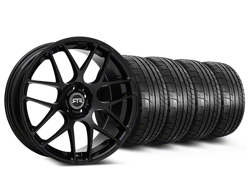 Staggered RTR Black Wheel & Mickey Thompson Tire Kit - 19x8.5/10 (15-19 GT, EcoBoost, V6)