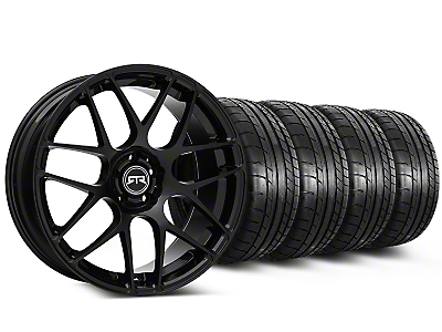 Staggered RTR Black Wheel & Mickey Thompson Tire Kit - 19x8.5/10 (15-18 GT, EcoBoost, V6)