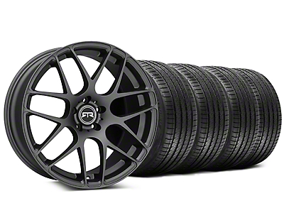 Staggered RTR Charcoal Wheel & Sumitomo Tire Kit - 20x9/10 (15-19 GT, EcoBoost, V6)