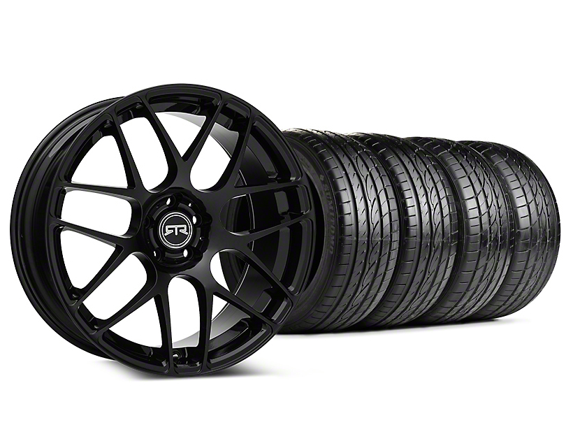 Staggered RTR Black Wheel & Sumitomo Tire Kit - 20x9/10 (15-18 GT, EcoBoost, V6)