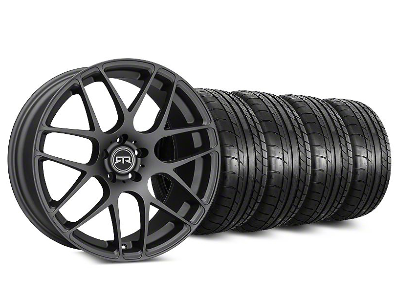 Staggered RTR Charcoal Wheel & Mickey Thompson Tire Kit - 20 in. - 2 Rear Options (15-18 All)