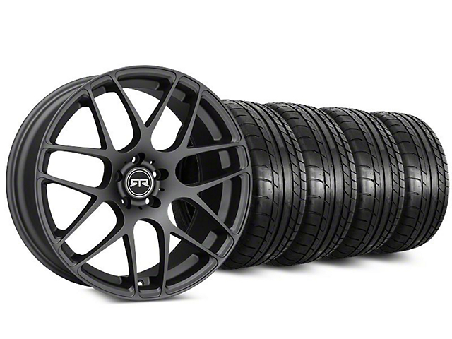 Staggered RTR Charcoal Wheel & Mickey Thompson Tire Kit - 20 in. - 2 Rear Options (15-17 All)