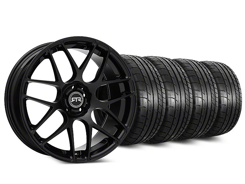 Staggered RTR Black Wheel & Mickey Thompson Tire Kit - 20 in. - 2 Rear Options (15-18 All)