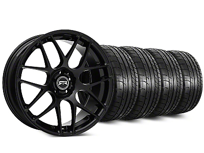Staggered RTR Black Wheel & Mickey Thompson Tire Kit - 20 in. - 2 Rear Options (15-19 All)