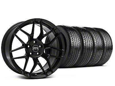 Staggered RTR Tech 7 Black Wheel & Pirelli Tire Kit - 19x9.5/10.5 (15-18 GT, EcoBoost, V6)