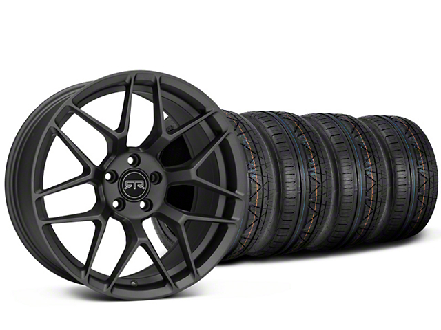 Staggered RTR Tech 7 Charcoal Wheel & NITTO INVO Tire Kit - 19x9.5/10.5 (15-18 GT, EcoBoost, V6)