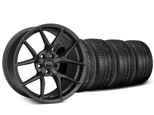 Staggered RTR Tech 5 Charcoal Wheel & NITTO INVO Tire Kit - 19x9.5/10.5 (15-17 All)
