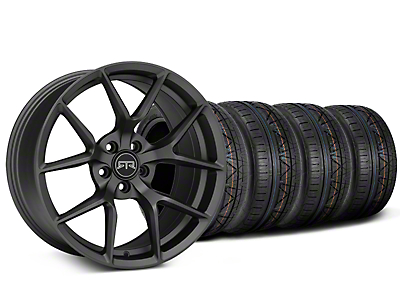 Staggered RTR Tech 5 Charcoal Wheel & NITTO INVO Tire Kit - 19x9.5/10.5 (15-18 GT, EcoBoost, V6)