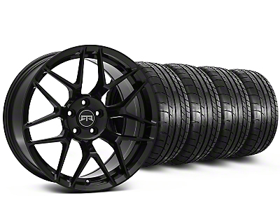 Staggered RTR Tech 7 Black Wheel & Mickey Thompson Tire Kit - 19x9.5/10.5 (15-17 All)
