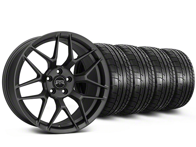 Staggered RTR Tech 7 Charcoal Wheel & Mickey Thompson Tire Kit - 19x9.5/10.5 (15-18 GT, EcoBoost, V6)